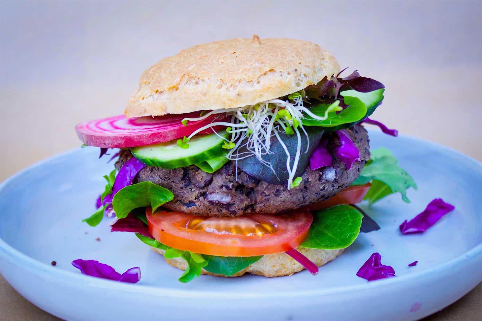 The Easiest Black Bean Burgers (vegan + gluten-free)