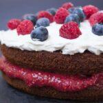 Summer Berry Sponge Cake (vegan + gluten-free)