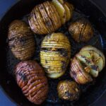 Sage and Garlic Hasselback Potatoes (vegan + gf)