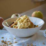 Spiced Apple Granola with Vegan Ricotta (vegan + gf)