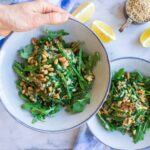 Asparagus, Spinach and Walnut Risotto (vegan +gf)