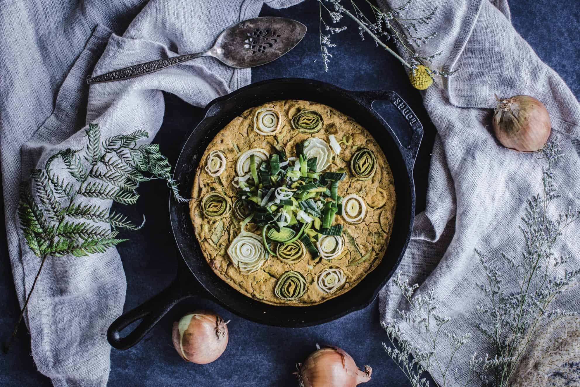 Vegan Leek & Onion Frittata