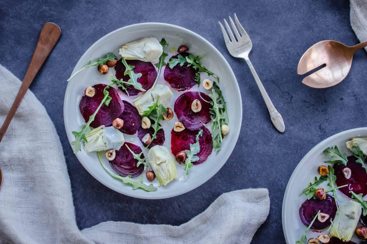 Winter Beet & Artichoke Salad (vegan & gf)
