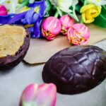 Vanilla Almond Caramel Easter Eggs (vegan + gf)