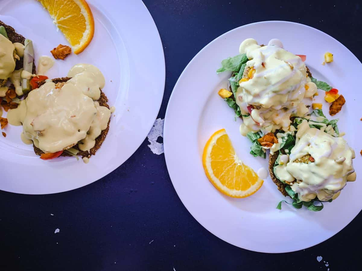 Image of Where to Eat Vegan in Victoria - brunch Bennies at Vegan Hippie Chick