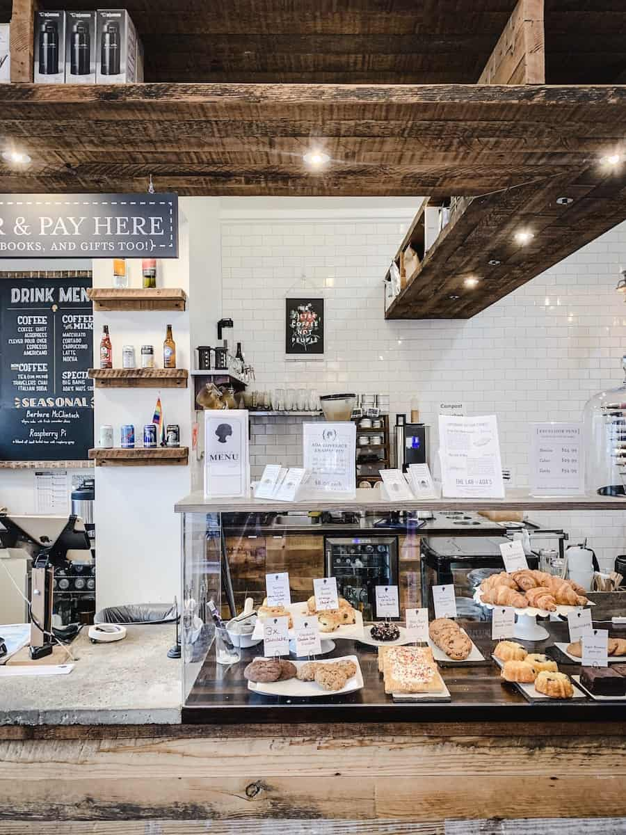 My Favourite Vegan restaurants in Seattle - Vancouver with Love. Image of Ada's Technical Bookstore & Cafe.