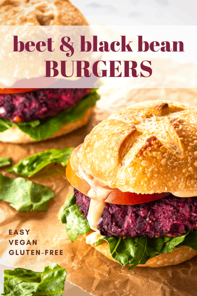 These Easy Beet & Black Bean Burgers are a foolproof recipe with great texture. Using just 13 simple ingredients, these burgers are vegan and gluten free, and taste great grilled or fried. #vegan #glutenfree #burgers #grilling #veggieburgers