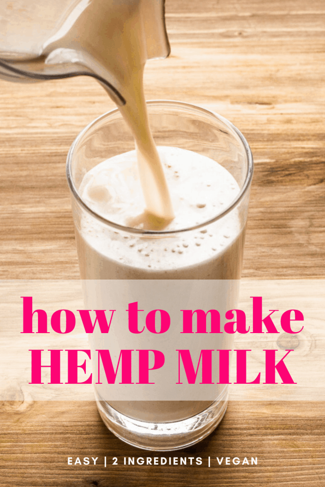 Hemp milk is a delicious dairy-free plant-based milk. It's naturally light yet creamy, and only requires two ingredients. If you're looking for an almond milk alternative, this recipe is for you. #hemp #dairyfree #plantbased #milk #vegan