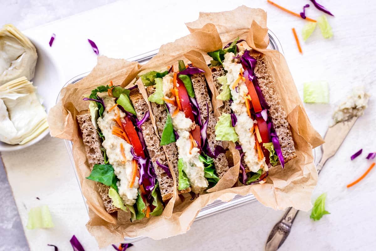 White Bean & Artichoke Sandwich