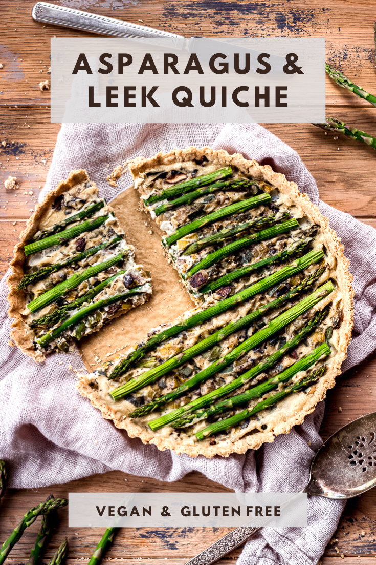 Asparagus & Leek Vegan Quiche (gluten free) by Vancouver with Love.