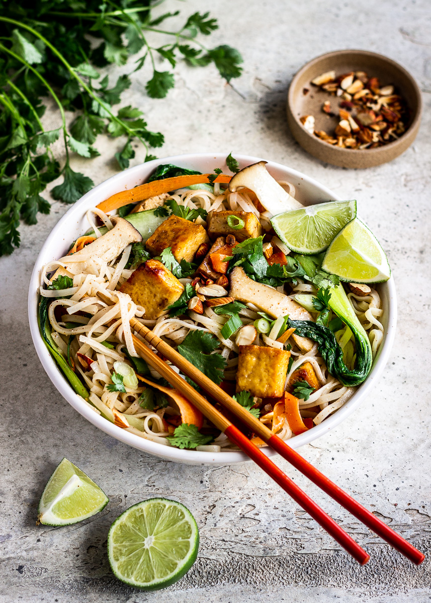Side image of Almond Butter Tofu Noodles by Vancouver with Love