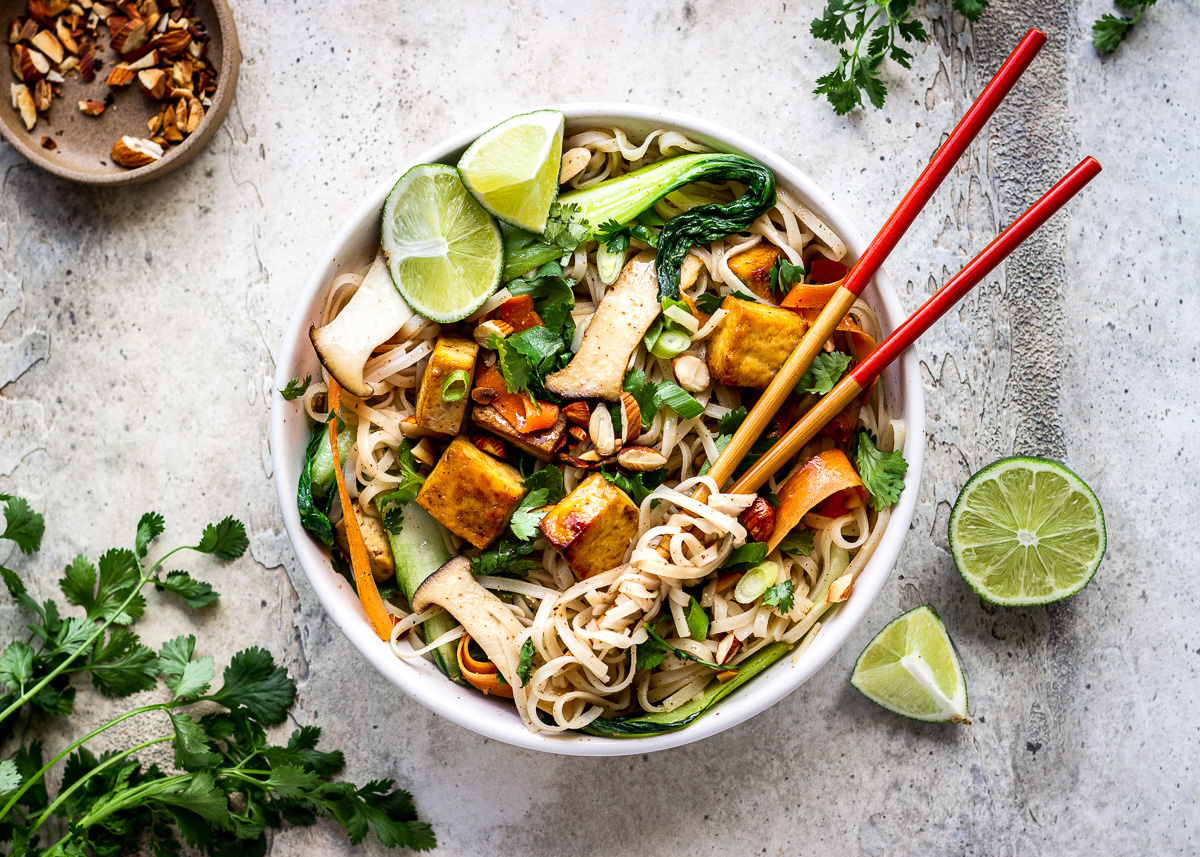Almond Butter Tofu Noodles by Vancouver with Love - How to Go Vegan in 2021.