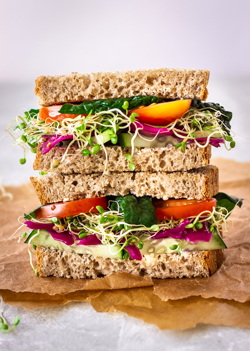 Salad and Alfalfa Sprout Sandwich by Vancouver with Love.