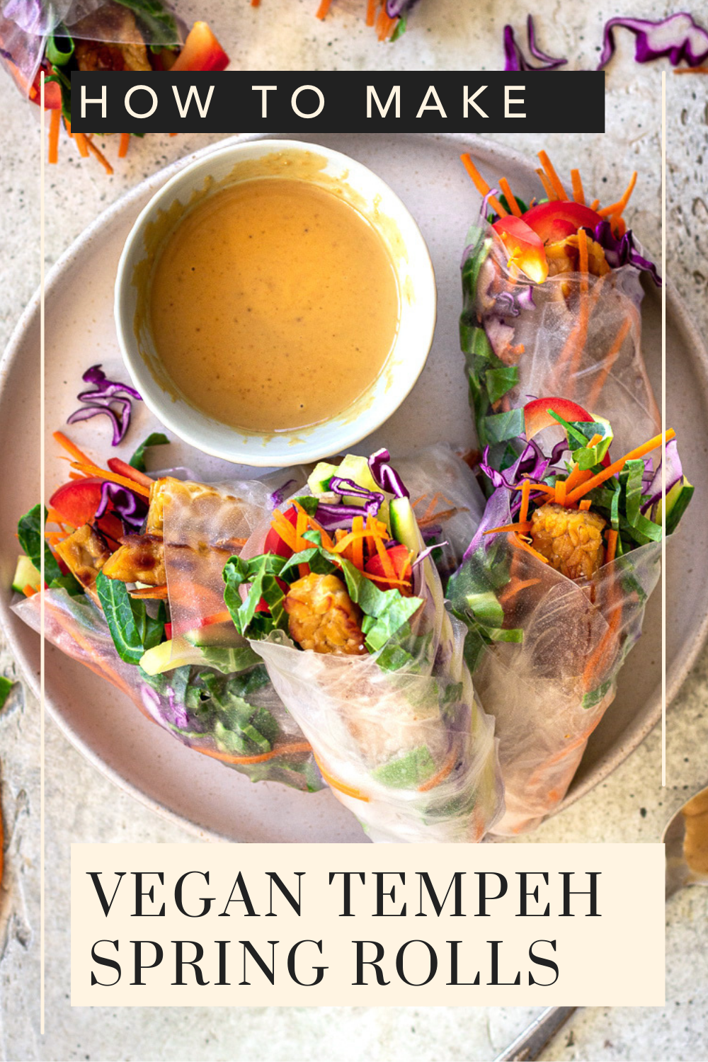 Vegan Spring Rolls with Peanut Dipping Sauce by Vancouver with Love